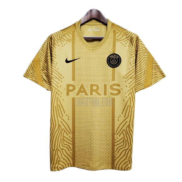 camiseta de entrenamiento paris saint-germain amarillo 2020-2021