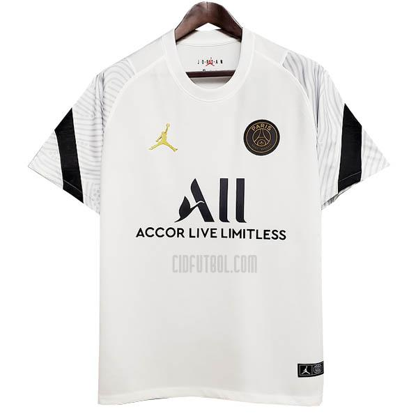 camiseta de entrenamiento paris saint-germain blanco 2020-2021