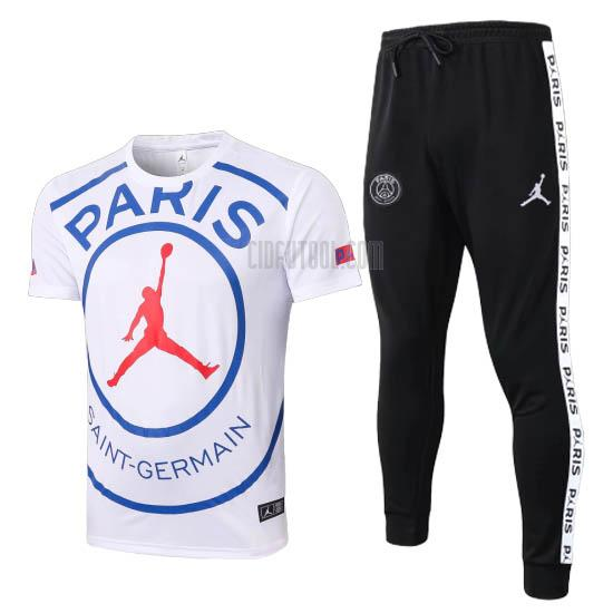 camiseta de entrenamiento paris saint-germain jordan blanco 2020