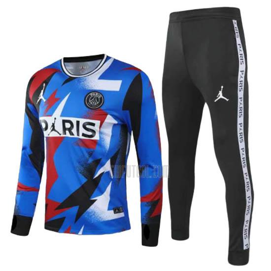 camiseta de entrenamiento paris saint-germain manga larga azul 2020