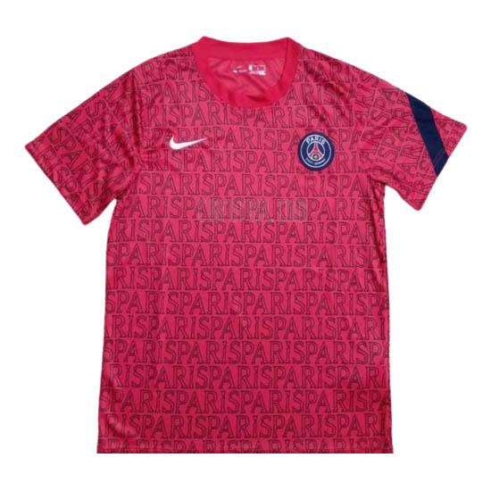 camiseta de entrenamiento paris saint-germain pre-match rojo 2020