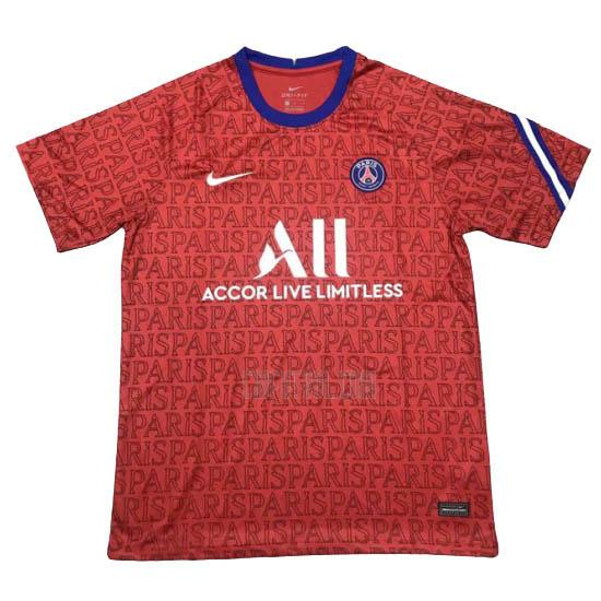 camiseta de entrenamiento paris saint-germain rojo 2020-2021