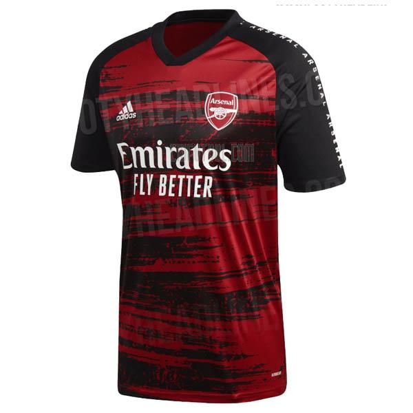camiseta del arsenal del pre-match 2019-20
