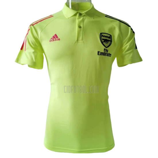 camiseta polo arsenal giallo 2020