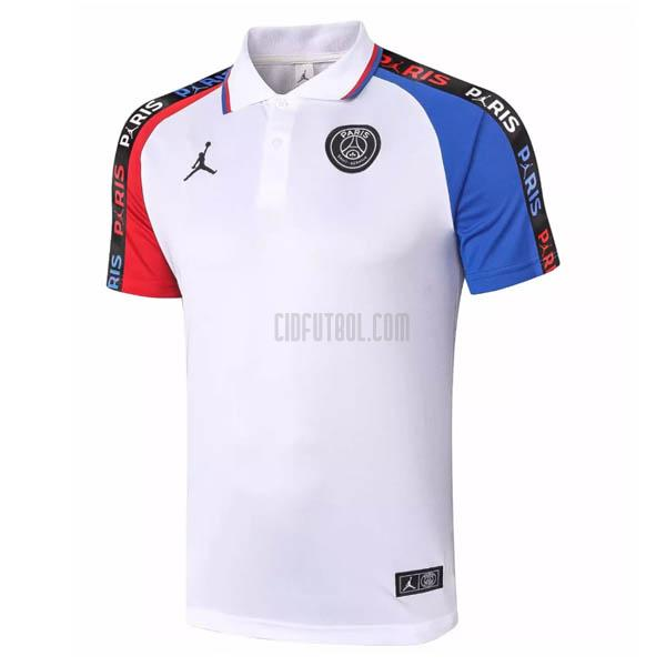 camiseta polo paris saint-germain blanco 2020