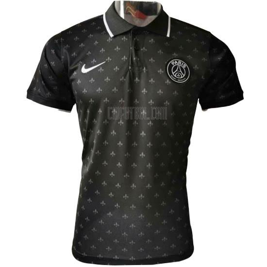 camiseta polo paris saint-germain f negro 2020