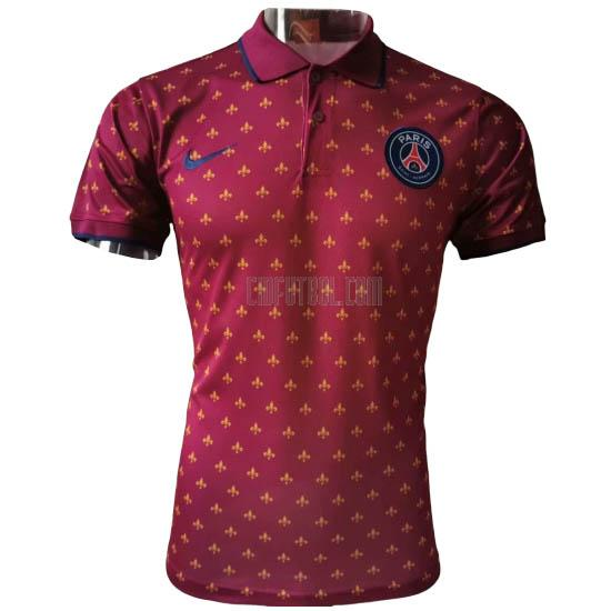 camiseta polo paris saint-germain f rojo 2020