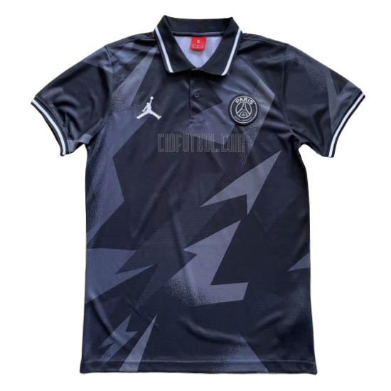 camiseta polo paris saint-germain gris-negro 2020