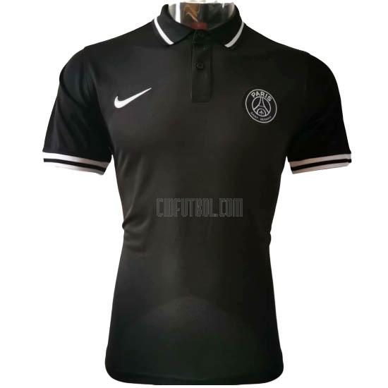 camiseta polo paris saint-germain negro 2020