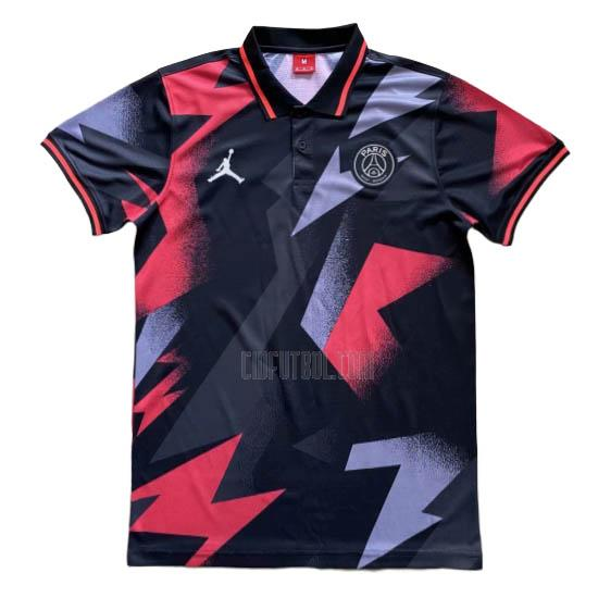 camiseta polo paris saint-germain rojo-negro 2020