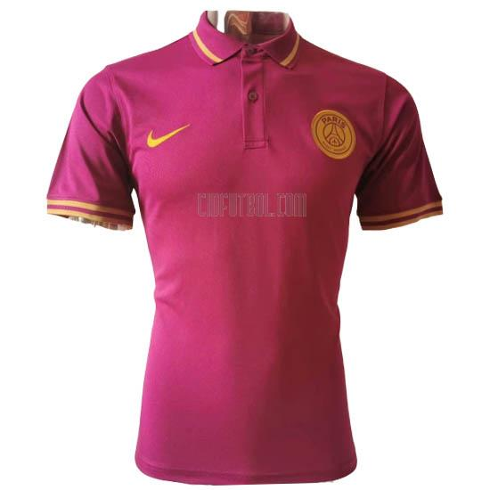 camiseta polo paris saint-germain rojo 2020