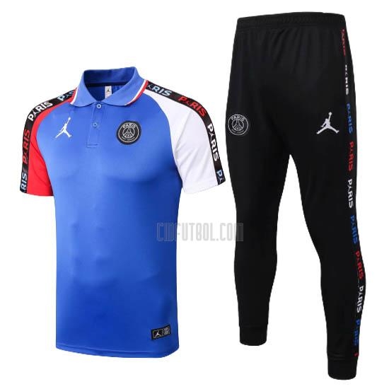 camiseta polo y pantalones paris saint-germain azul 2020-2021