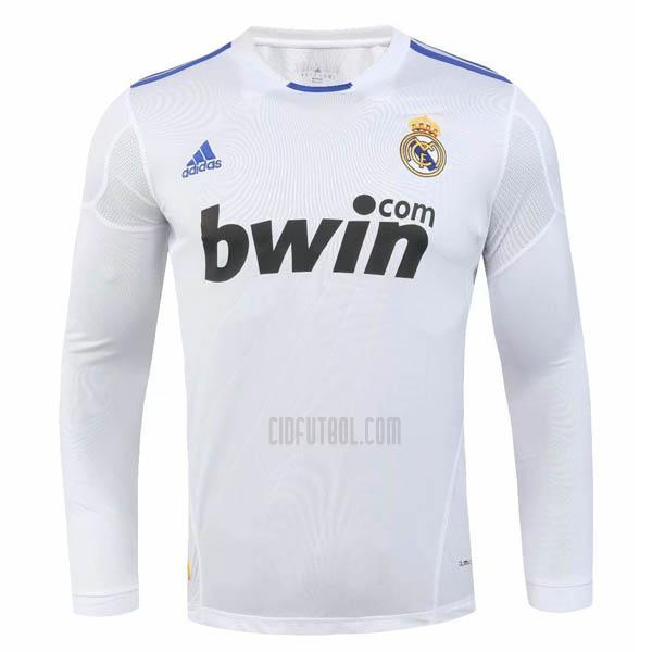 camiseta retro del real madrid del manga larga 1ª equipación 2010-2011