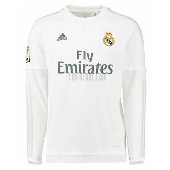 camiseta retro del real madrid del manga larga 1ª equipación 2015-2016